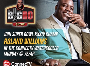 Graphic of Roland Williams for Big Ro Show on ConnecTV