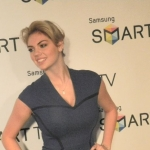 Kate Upton at the Samsung Smart TV launch party.