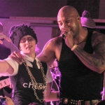 Flo Rida does his thing at the Samsung Smart TV launch party in Manhattan.