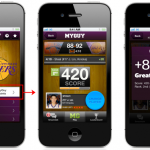 Viggle's MyGuy allows fans to play along with televised football and basketball games by choosing athletes and scoring based on how they perform during the game. Points can be redeemed for real-world rewards (such as gift cards to Starbucks and Best Buy). With an average of over 8,000 users playing along each game and engaging with the application for an average of 75 minutes per session.