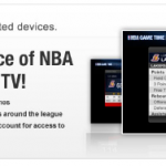 NBA Game Time is available on mobile phones, tablets, and connected devices The app provides highlights, access real time scores, stats, schedules for every game and much more at home or on the go. Two key components introduced for the 2012-13 season are customizable alerts and custom Twitter streams for each game. The upgrade, Game Time Plus, offers all the features and functionality of Game Time, but with video alerts and the audio broadcast from both the home and away teams. Additionally, Game Time is also the gateway for League Pass Mobile, which allows fans to stream live NBA games.