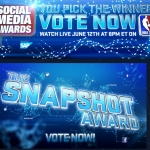 The first ever NBA Social Media Awards was created by NBA TV/NBA Digital, utilizing on-air, digital, and social media promotion NBA Digital to honor the players, plays, and teams that had the biggest impact on the social media landscape in 2011-2012. The following assets were utilized throughout the execution: linear/online banner creative, email database, NBA TV Facebook/Twitter platforms. There was a social convergence on-air and online orchestrated by NBA TV that seamlessly flowed between multiple locations/partners (i.e. Facebook, Twitter, and others) that allowed fans to follow each award, each act, and each interview without missing a beat.