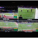 CBS Sports' live stream of Super Bowl XLVII, provided fans included the first-ever live stream of the Pepsi Super Bowl XLVII Halftime Show featuring Beyoncé, immediate access to the Super Bowl commercials as they were broadcast, additional camera angles to see the action from different perspectives, and deep social integration with compelling visualizations of the most talked-about moments across social networks and a curated Twitter stream featuring commentary from CBS personalities.Online, the CBSSports.com live stream attracted three million unique viewers to the Super Bowl XLVII video player, up 43 percent from Super Bowl XLVI. Viewers generated nearly 10 million live video streams, up more than 100 percent from last year, resulting in a record 114.4 million minutes streamed, which was up 46 percent over last year's game. Trendrr tracked more than 52.5 million social comments throughout the day, more than three times the numbers tracked for 2012's Grammy Awards and Super Bowl XLVI, the previous top events.